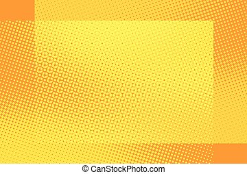 Orange frame pop art retro background