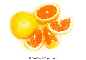 orange, freisteller, weißes