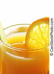 Orange fresh closeup