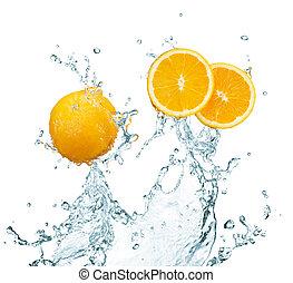orange, frisch