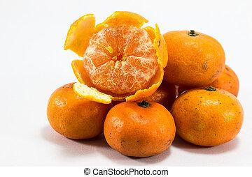 orange from market isolated on white background