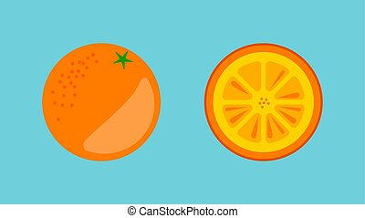 Orange Fruit Banner Vector