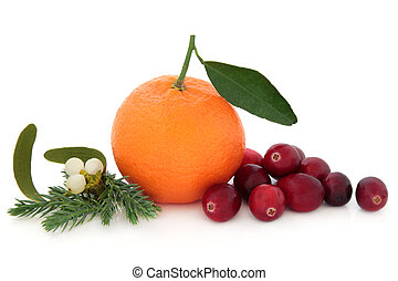 orange, fruit, canneberge