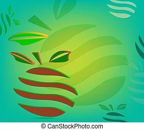 Orange fruit design label backgroung