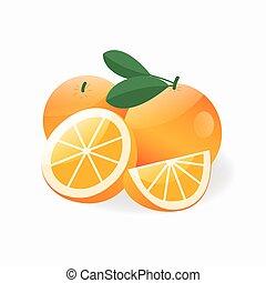 Orange fruit flat design vector