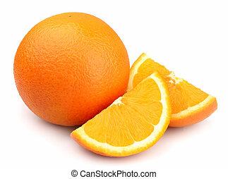orange, fruit, frais