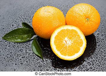 orange, fruit frais