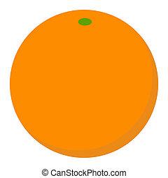 Orange fruit icon, flat style