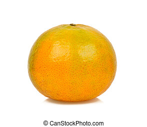Orange fruit isolated on the white background