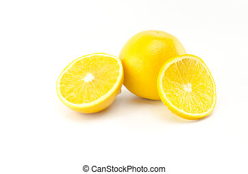 orange fruit isolated on white