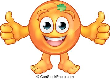 Orange Fruit Mascot Cartoon Character