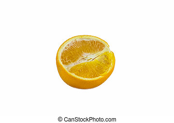 orange fruit on a white background