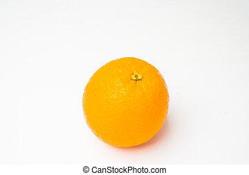 Orange fruit on white background