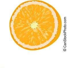 Orange fruit.
