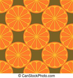 Orange fruit seamless art white pattern background
