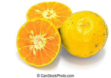 Orange fruit sliced isolated