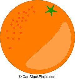Orange Fruit Vector Isolated