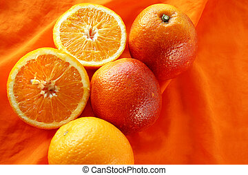 orange fruits on orange background