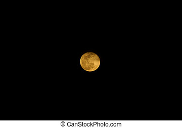 Orange Full moon in the night.