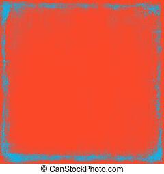 orange, gekratzt, hintergrund, weinlese