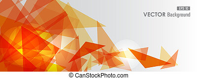 Trendy orange transparent triangles abstract background illustration. EPS10 vector with transparency organized in layers for easy editing.