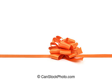 orange gift ribbon bow