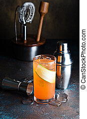 orange, gin, couper, concombre, cocktail