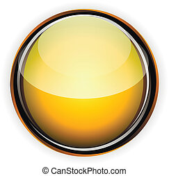 Orange glass button