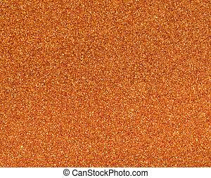 Orange glitter texture for background