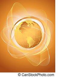 Orange globe