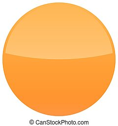 Orange glossy button blank round icon