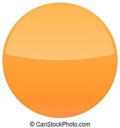 Orange glossy button blank round icon