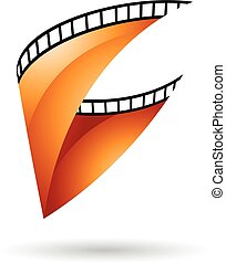 Orange Glossy Film Reel icon