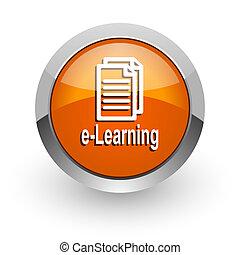 orange glossy web icon