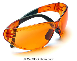 orange goggles - isolated
