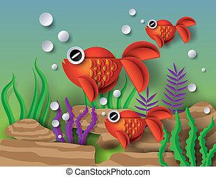 Orange Goldfish with bobbles