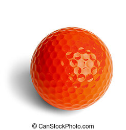 Orange Golf Ball - Orange Miniature Golf Ball Isolated On...