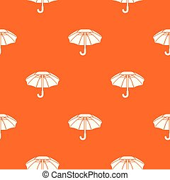 orange, grand, vecteur, parapluie, modèle