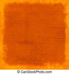 orange, gratté, vendange, fond