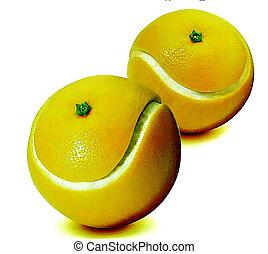 Orange graven tennis