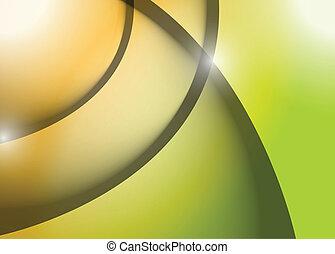 orange green wave lines graphic illustration design...