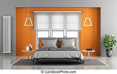 orange, moderne, chambre à coucher images de stock - Rechercher ...