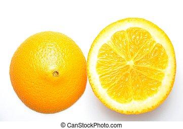 orange, gros plan, savoureux