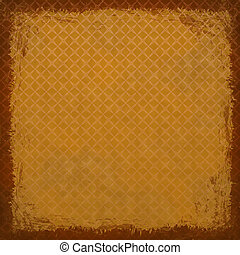 Orange grunge background. Abstract vintage texture with frame an