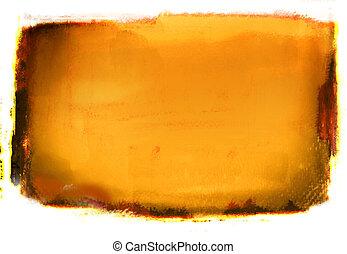 Orange Grunge Background - Orange Abstract