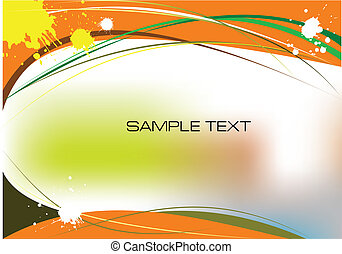 Orange grunge background. Vector