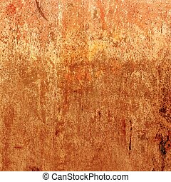 Orange grunge background. Vector rusty texture.