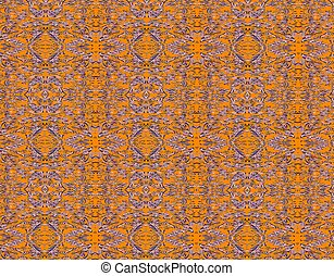 Orange grunge vintage pattern wallpaper background