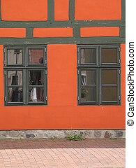 orange half-timbered