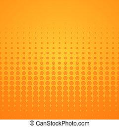 Orange Halftone Pattern - Bright disco background with...